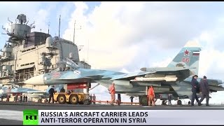 Flagship of the Russian Navy in Syria: Onboard aircraft carrier Admiral Kuznetsov