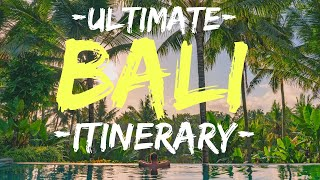 BALI ITINERARY: Best of Bali in 10 days (2019)