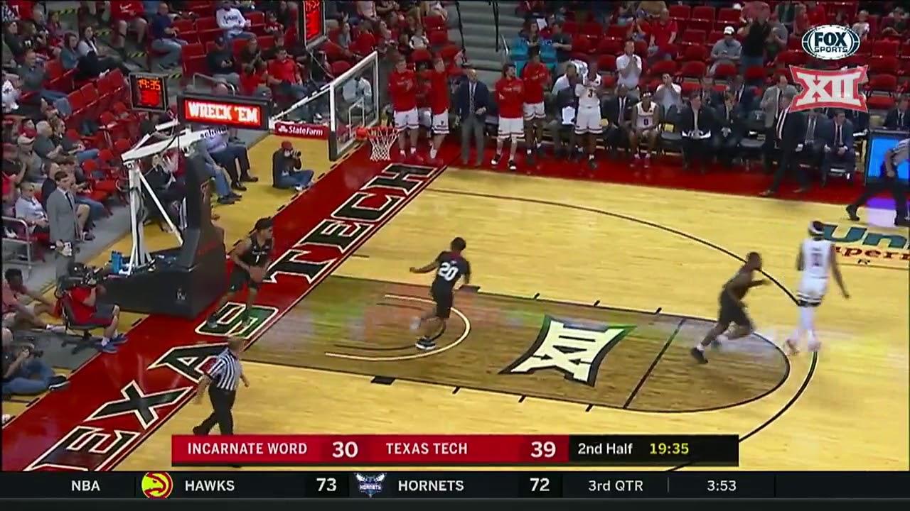 texas tech vs incarnate word men s basketball highlights youtube
