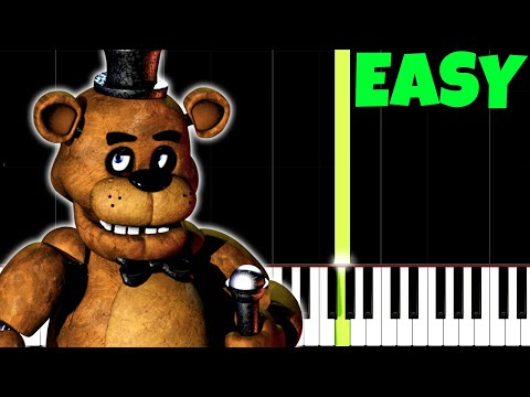 Five Night's At Freddy's Theme Song [Easy Piano Tutorial] (Synthesia/Sheet Music)