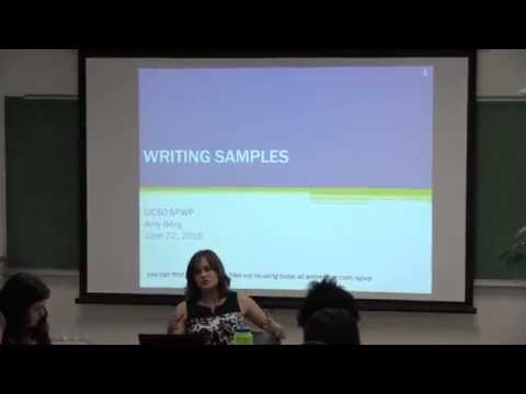 Preparing the Writing Sample Workshop with Amy Berg