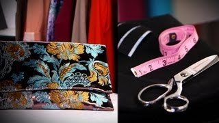 Diy Fashion | Make Your Own Clutch From Scratch | Designer Diy