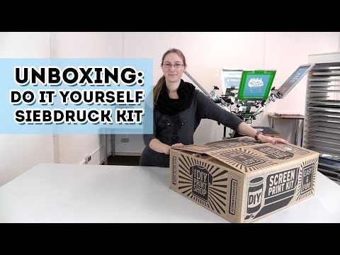 Unboxing: DIY Siebdruck Kit (limitiert) - Screen printing Kit Europe