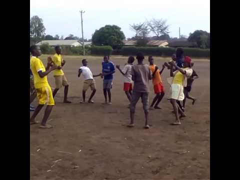 Slum kids working out