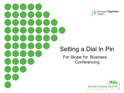 Setting a Skype for Business Dial In Pin