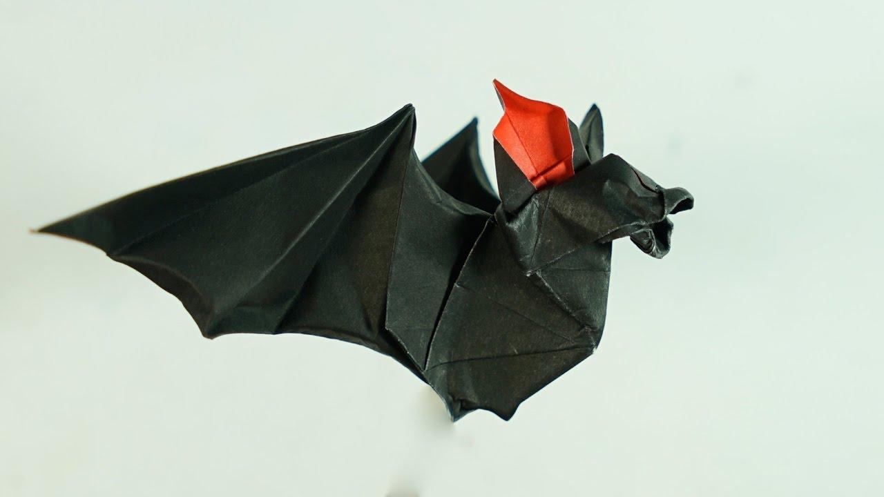 origami bat tutorial halloween henry ph��m youtube