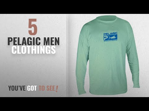 Top 10 Pelagic Men Clothings [ Winter 2018 ]: Pelagic Men's Aquatek Long Sleeve Shirt, Seafoam,