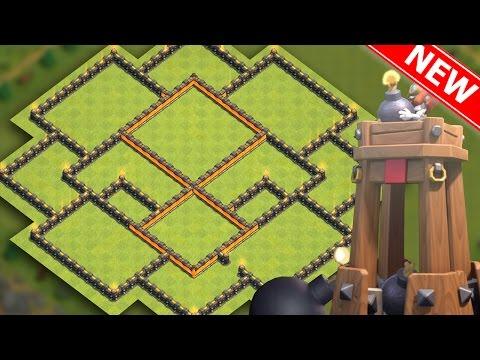 Clash Of Clans | BEST TH9 HYBRID BASE