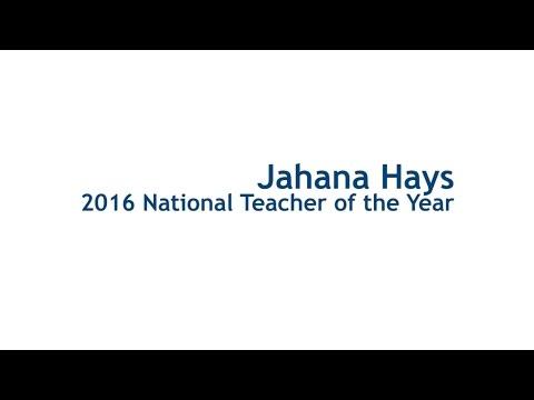 2016 National Teacher of the Year Jahana Hays