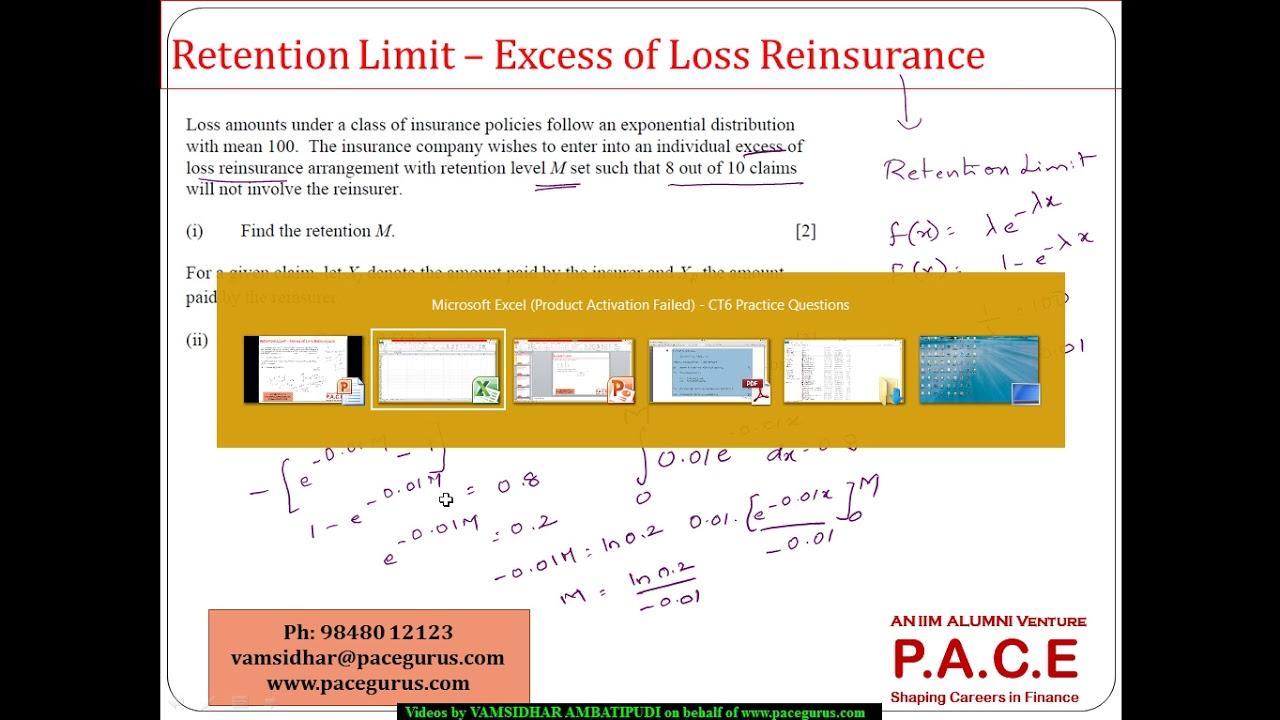 excess of loss rückversicherung