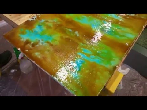 Countertop Acid Staining Demonstration Featuring Brad Carlisle