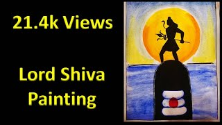 How To draw Lord Shiva with watercolour