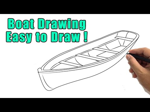 How To Draw A Boat Drawing Easy Fishing Boat Step By Step Sketch For Beginners Youtube