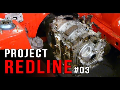 Project REDLINE Mazda rotary build ep 3 | Mounting our rotary engine