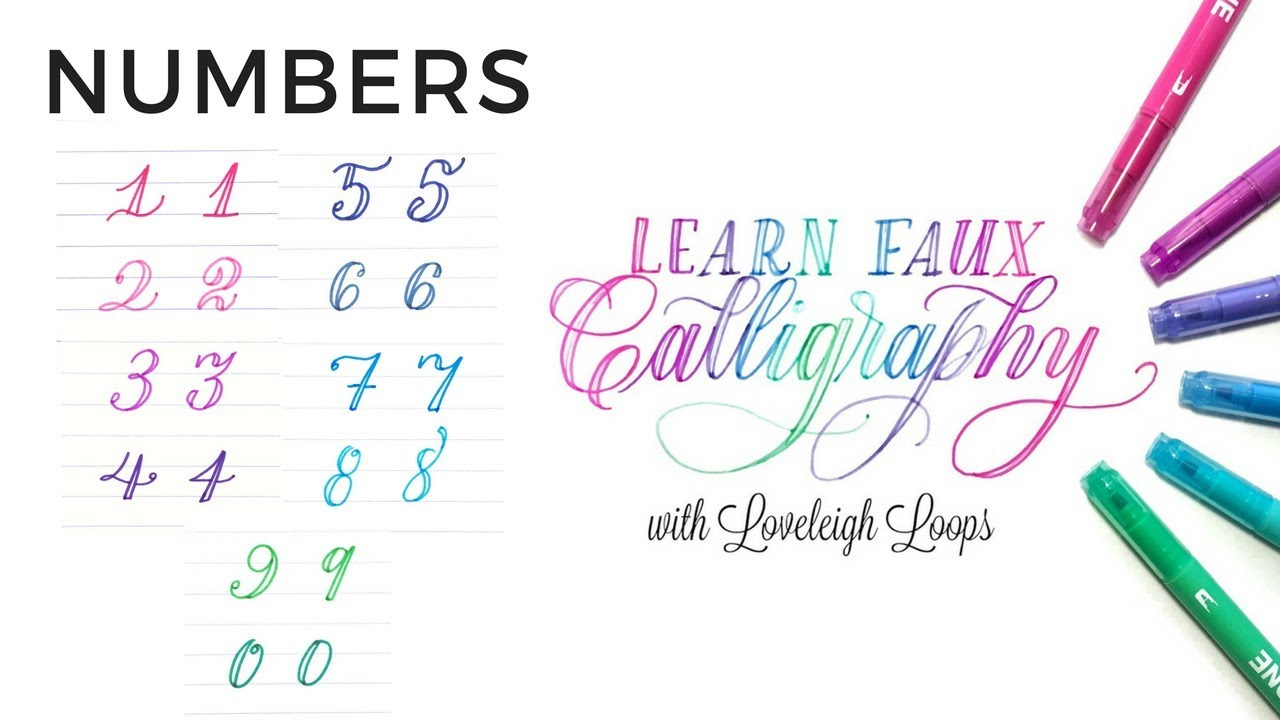How To Write The Numbers In Faux Calligraphy