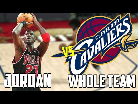 Can Michael Jordan Beat The Cleveland Cavaliers Playing By Himself? NBA 2k17 Gameplay!