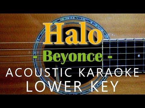 Halo - Beyoncé [Acoustic karaoke   Lower Key ]