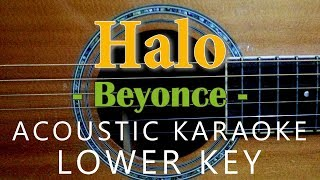Halo - Beyoncé [Acoustic karaoke | Lower Key ]