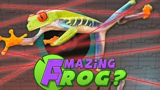 Amazing Frog PC Gameplay - LASERS AND TRAMPOLINES! - Part 5