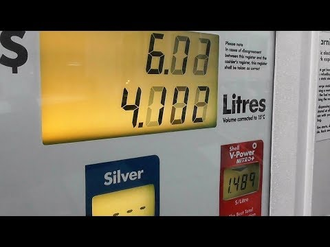 US$4.55 per 1 US Gallon of Shell 91 Gas? -- Yep, Welcome to Canada!