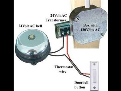 doorbell wiring in hindi urdu doorbell installation in hindi rh youtube com wiring lighted doorbell button