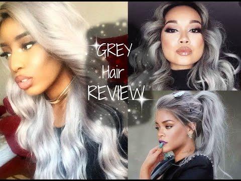 grey hair under 50 freetress chrome youtube