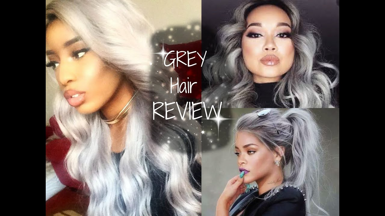 Synthetic Wig Grey Lace Wig Under 50 Freetress Equal Chrome