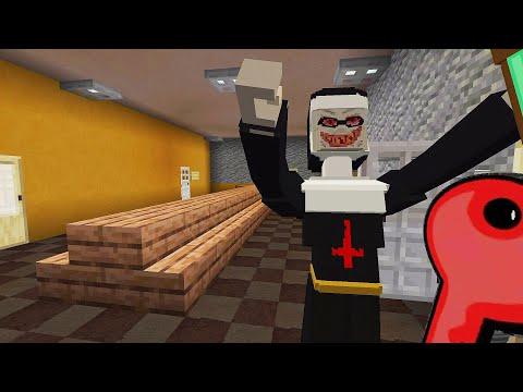 Escaping the EVIL NUN in Minecraft PE