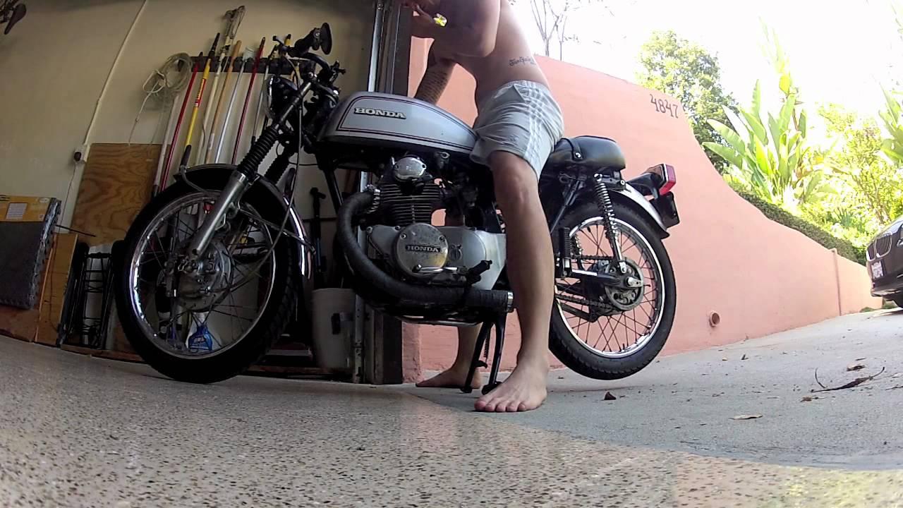 1972 honda cb175 cafe racer - walk around and start up - youtube