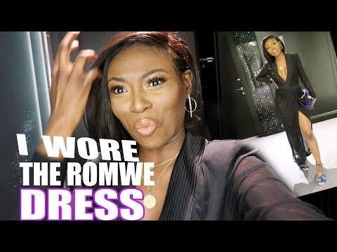 I WORE THE ROMWE DRESS & NEW SHORT HAIR- ISSA VLOG! Homesense, fashionweek, and more!