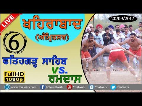 KHAIRABAD (Amritsar) KABADDI - 2017 ● FATEHGARH SAHIB vs RAMDAS ● FULL HD ● Part 6th
