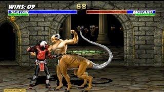 Ultimate Mortal Kombat 3 arcade Sektor Gameplay Playthrough Longplay