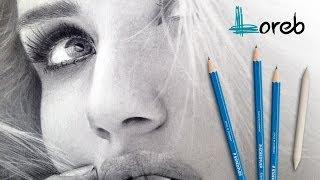 GRAPHITE PENCIL HYPERREALISM PORTRAIT Rosie Huntington-Whiteley speed draw - Lorenzo Bovo