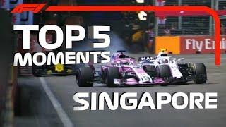 Top 5 Moments | 2018 Singapore Grand Prix