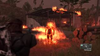 MGSV Man on Fire Boss Fight (Water Pistol Only)