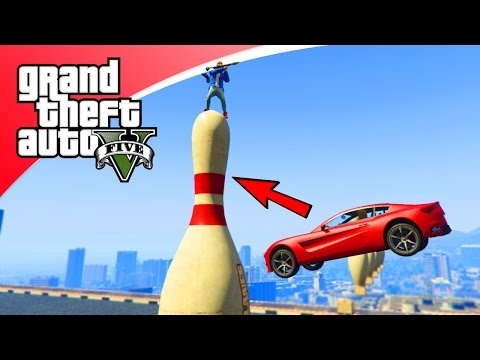 GTA V Online - MENSEN BOWLING MET AUTO'S! (GTA 5 Funny Jobs)