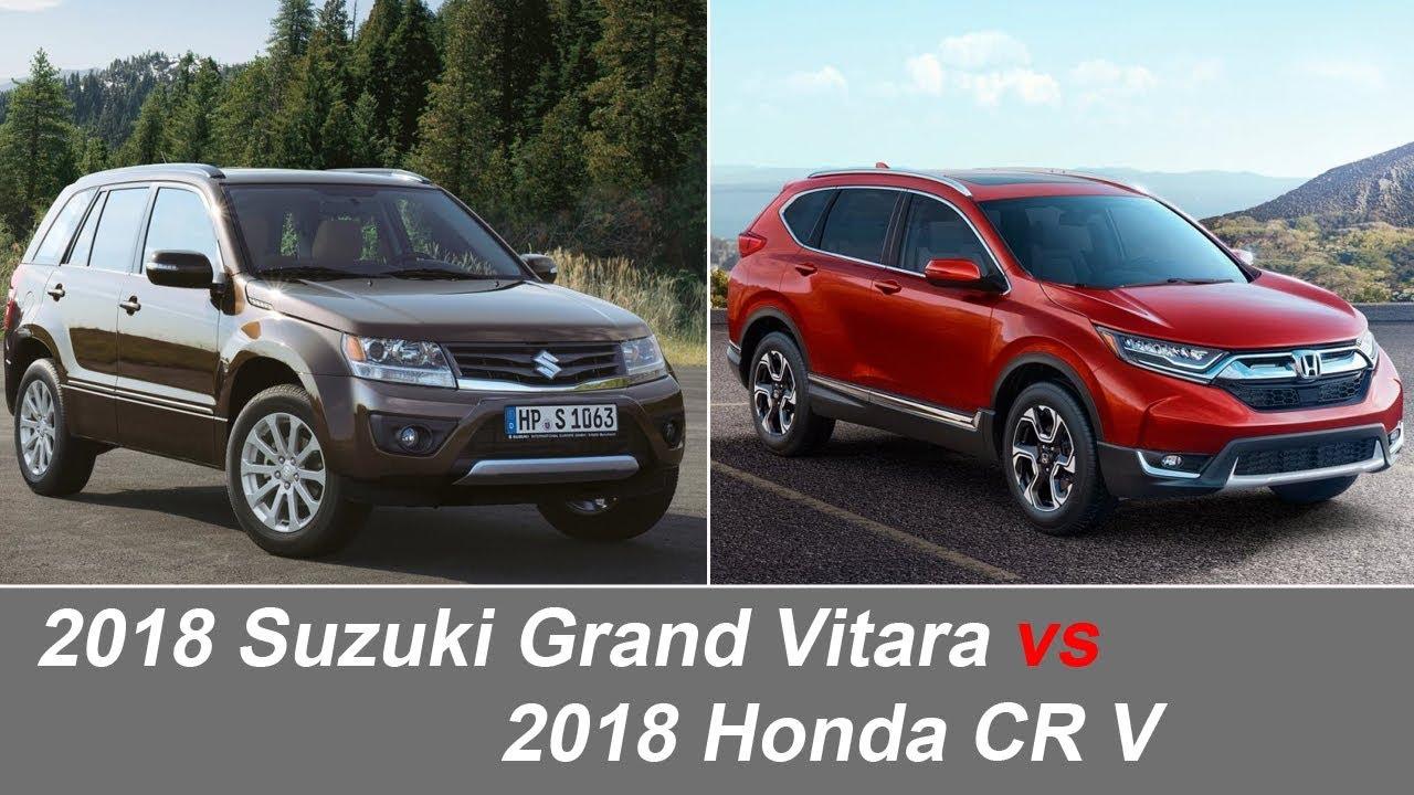 2018 suzuki grand vitara vs 2018 honda cr v comparison vehicles and cars youtube. Black Bedroom Furniture Sets. Home Design Ideas