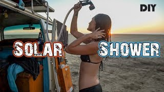 How To Build A ROOF TOP SOLAR SHOWER for your Van, Truck or RV