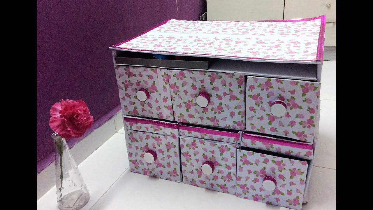Diy storage organizer using shoebox other recycle for Reuse shoe box ideas