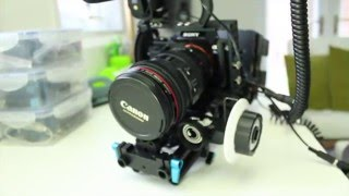 sony a7s rig with ninja blade and power distro