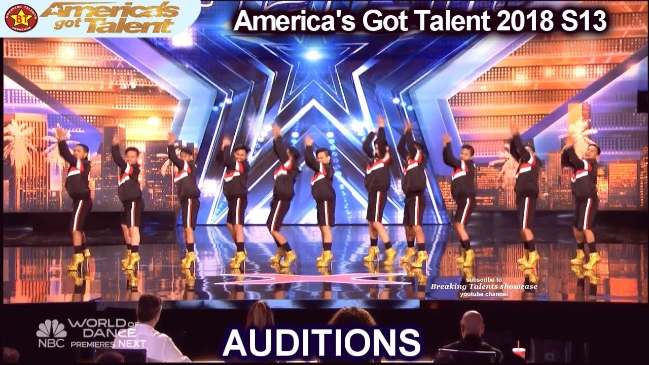 4890d8e3e Junior New System JNS FILIPINO High Heels Dance Group America's Got Talent  2018 Auditions S13E01