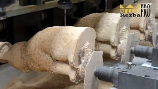 Вырезаем скульптуру кошки на четырех осевом станке с ЧПУ