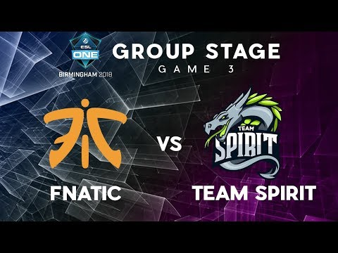 Fnatic vs Team Spirit | Bo3 | ESL One Birmingham | Group Stage | Game 3
