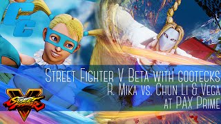 gootecks plays R. Mika vs. Chun Li & Vega - PAX 2015 - 8/28/15 - Street Fighter V: Beta