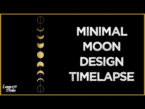 Phases Of The Moon  - Graphic Design Speed Art (Timelapse)