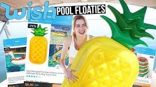 TRYING POOL FLOATIES FROM WISH!!