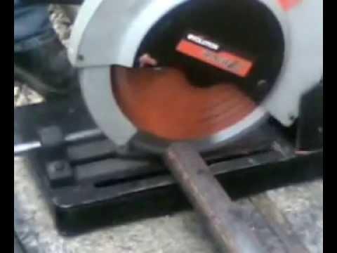 Чем распилить стальной круг быстро и без искр