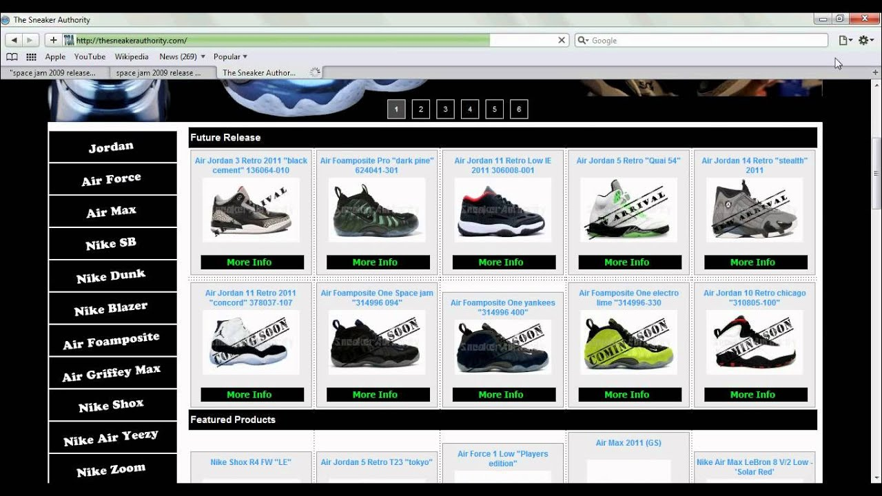 Sneaker Websites - YouTube