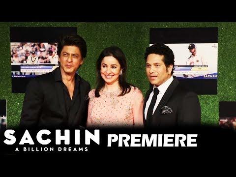 Shahrukh Khan पहुचें Sachin A Billion Dreams GRAND PREMIERE पर