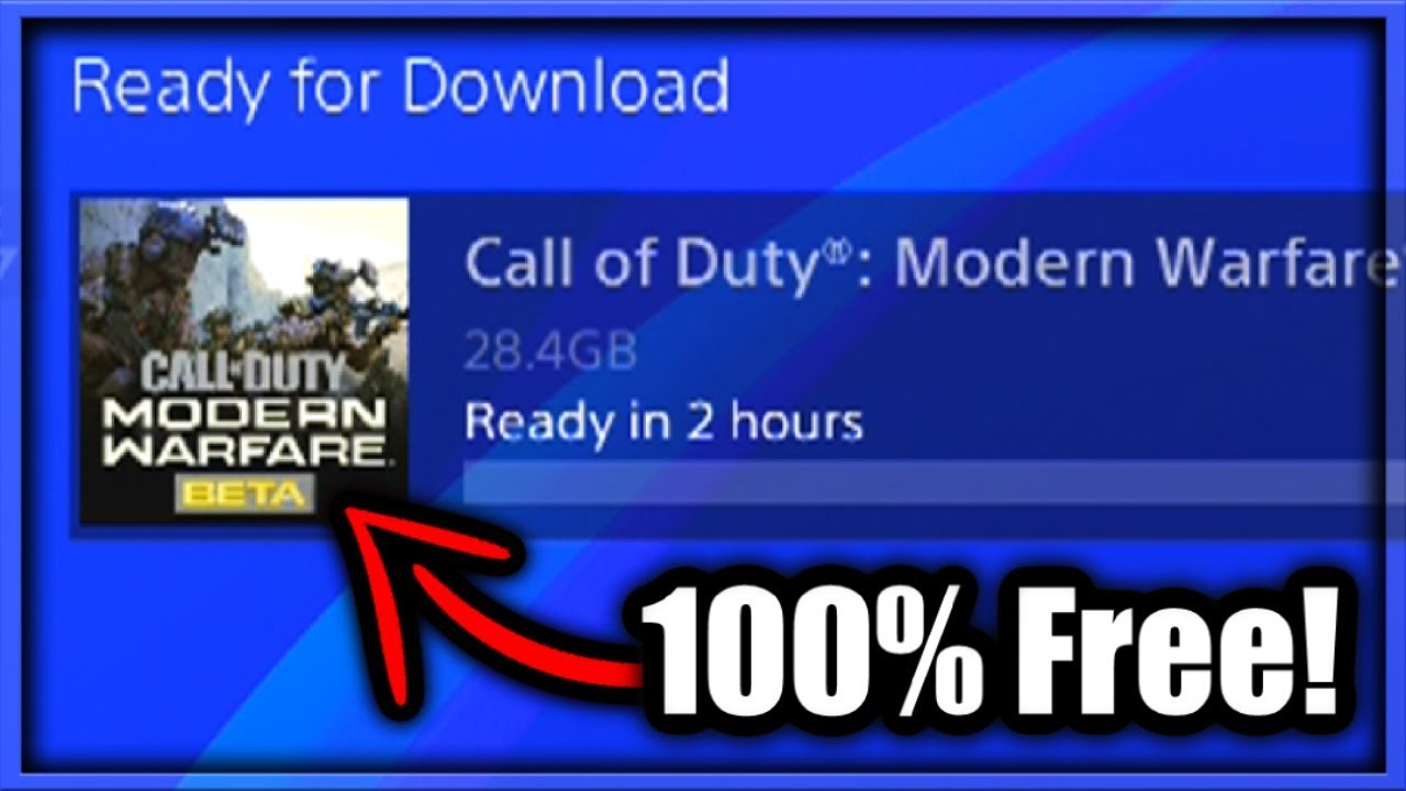 How To Download Modern Warfare Beta For Free How To Play Modern Warfare Beta Ps4 Xbox One Pc Codes Youtube